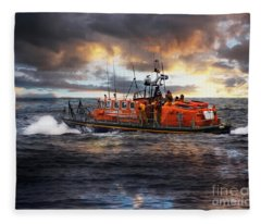 Dramatic Once More Unto The Breach  Fleece Blanket