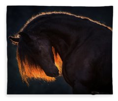 Drawn From The Darkness Fleece Blanket