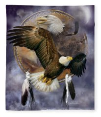 Dream Catcher - Spirit Eagle Fleece Blanket