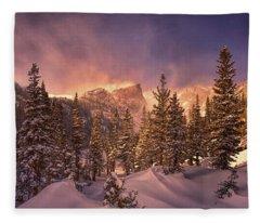 Dream Lake  Rocky Mountain National Park  Fleece Blanket