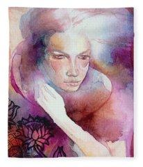 Dream Lotus Fleece Blanket