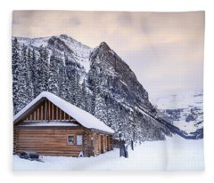 Log Cabin Photographs Fleece Blankets