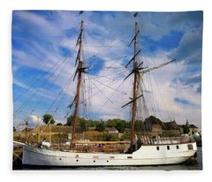 Dream On The Fjord Fleece Blanket