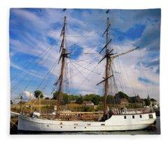 Dream On The Fjord Fleece Blanket