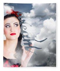 Dream To Make Believe. Growth Of Imagination Fleece Blanket