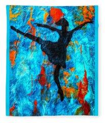 Dreamer Ballerina Fleece Blanket