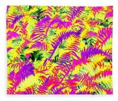 Dreaming Ferns Fleece Blanket