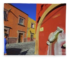 Dreaming In Color In The City Of San Miguel De Allende, Mexico Fleece Blanket