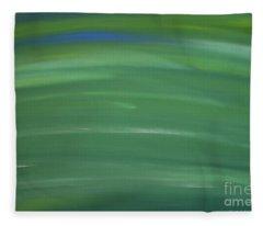 Floating In Green Fleece Blanket