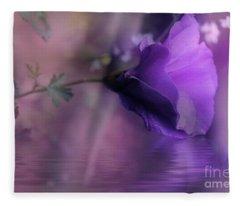 Dreaming In Purple Fleece Blanket