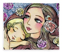 Dreaming In Roses Fleece Blanket