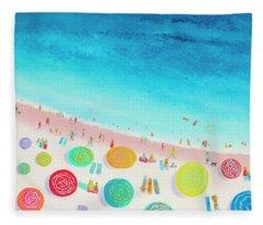 Dreaming Of Sun, Sand And Sea Fleece Blanket