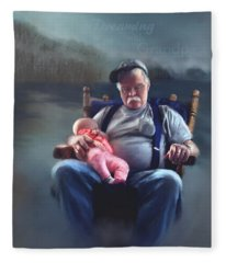 Dreaming With Grandpa Fleece Blanket