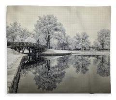 Dreamlike Elm Park In Worcester Fleece Blanket