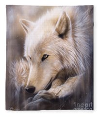 Dreamscape - Wolf Fleece Blanket