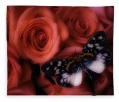 Dreamy Butterfly Fleece Blanket