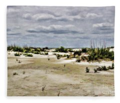 Dreamy Sand Dunes Fleece Blanket