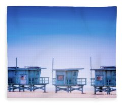 Dreamy Santa Monica Beach Fleece Blanket