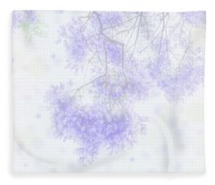 Dreamy Soft Focus Jacaranda In The Spring  Fleece Blanket