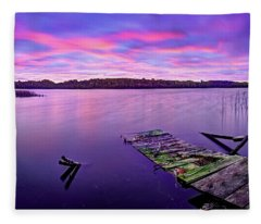Dreamy Sunrise Fleece Blanket