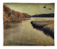 Dreary Autumn Fleece Blanket
