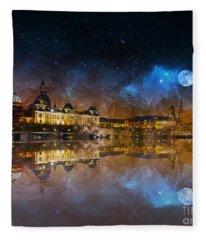 Dresden At Night Fleece Blanket