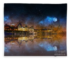 Dresden At Night Fleece Blanket