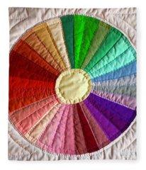 Dresden Plate Circle Fleece Blanket