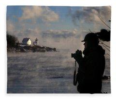 Dressed For Sea Smoke Fleece Blanket
