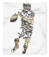 Drew Brees New Orleans Saints Pixel Art T Shirt 1 Fleece Blanket