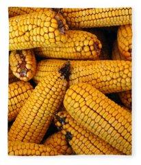 Dried Corn Cobs Fleece Blanket