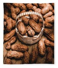 Dried Whole Peanuts In Their Seedpods Fleece Blanket