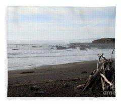 Driftwood And Moonstone Beach Fleece Blanket