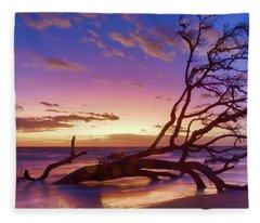 Driftwood Beach 1 Fleece Blanket