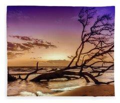 Driftwood Beach 2 Fleece Blanket
