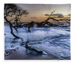 Driftwood Beach 3 Fleece Blanket