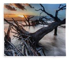 Driftwood Beach 6 Fleece Blanket
