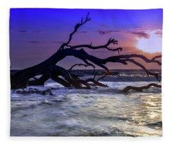 Driftwood Beach 9 Fleece Blanket