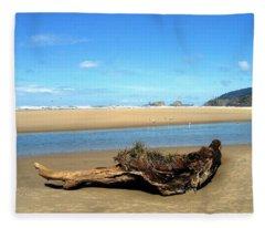 Driftwood Garden Fleece Blanket