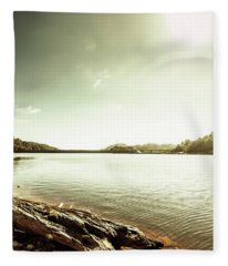 Driftwood Lakes Fleece Blanket
