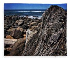 Driftwood Rocks Water Fleece Blanket