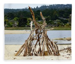 Driftwood Tipi With A View Fleece Blanket