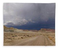 Driving Into The Storm Fleece Blanket