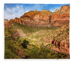 Driving Into Zion Fleece Blanket