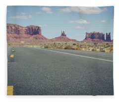 Driving Monument Valley Fleece Blanket
