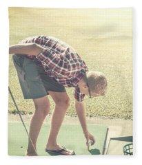Driving Range Golf Fleece Blanket
