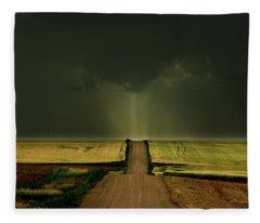 Driving Toward The Daylight Fleece Blanket