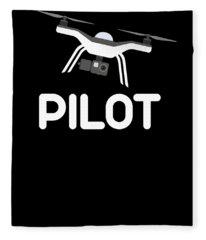 Drone Pilot Uas Uav Drone Lover Fleece Blanket