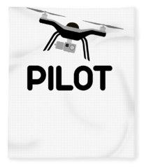 Drone Pilot Uas Uav Fleece Blanket