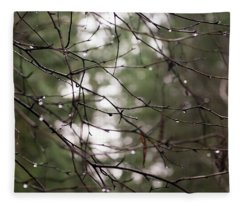 Droplets On Branches Fleece Blanket